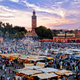 Marrakech guided city tour, Jamaa El fna square , visit Marrakech, Historic visit